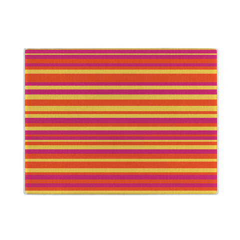 Colorful Striped Glass Cutting Board