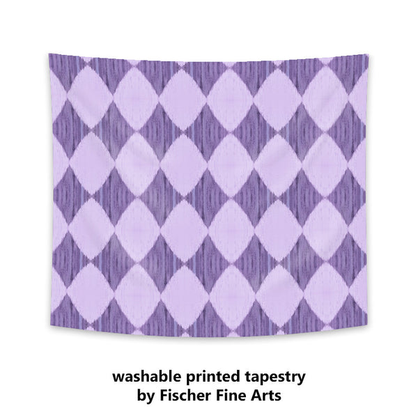 Ikat Style Wall Tapestry in purple