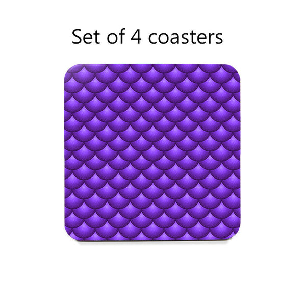 Scallops Coaster Set in purple