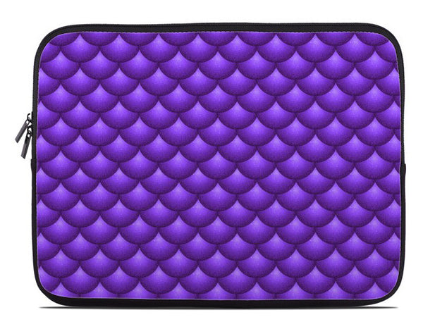 Fish Scales Print Laptop Cover in purple