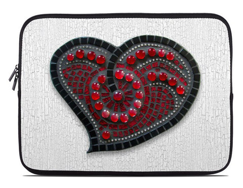 Printed Mosaic Heart Laptop Cover