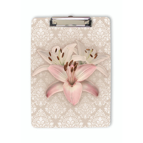 Lilies on Damask Clipboard