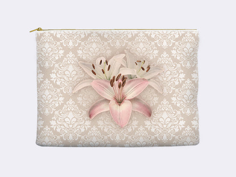 Floral Zippered Pouch Carry-All