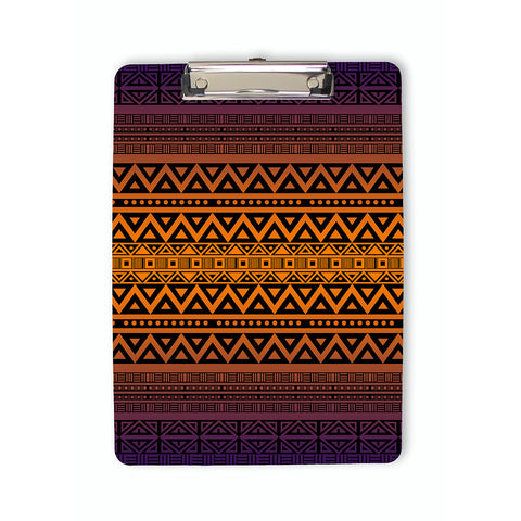 Tribal Pattern Clipboard in purple and orange
