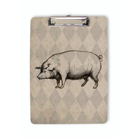 Vintage Style Pig Clipboard