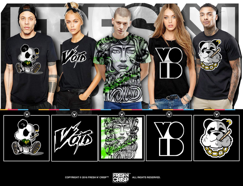 "FRESH N' CRISP ""THE VOID"" COLLECTION - NOW ON SALE!!! $19.99"