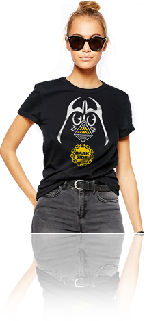 "FRESH N' CRISP™ ""DARKSIDE"" LADIES CREWNECK T-SHIRT"