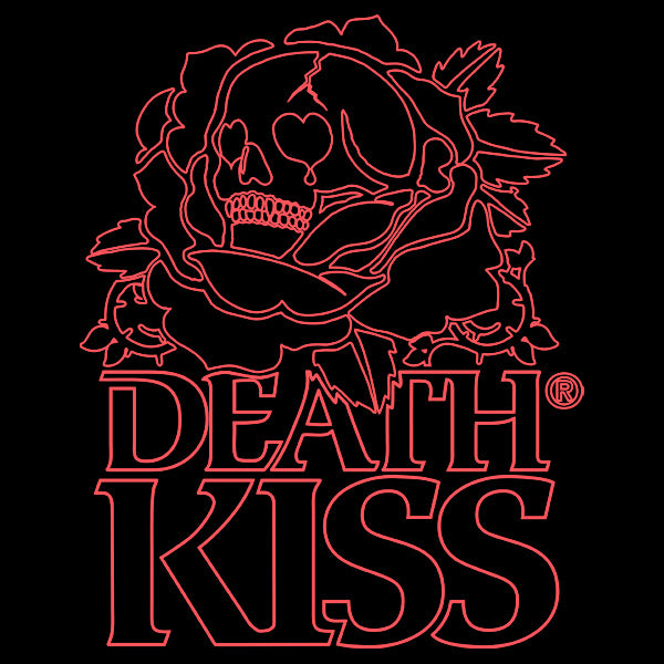 DEATH KISS® Large Outline Logo Black Unisex Crewneck T-Shirt