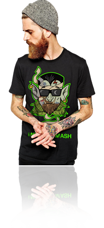 "FRESH N' CRISP™ ""MONSTER MASH"" HALLOWEEN UNISEX BLACK CREWNECK"