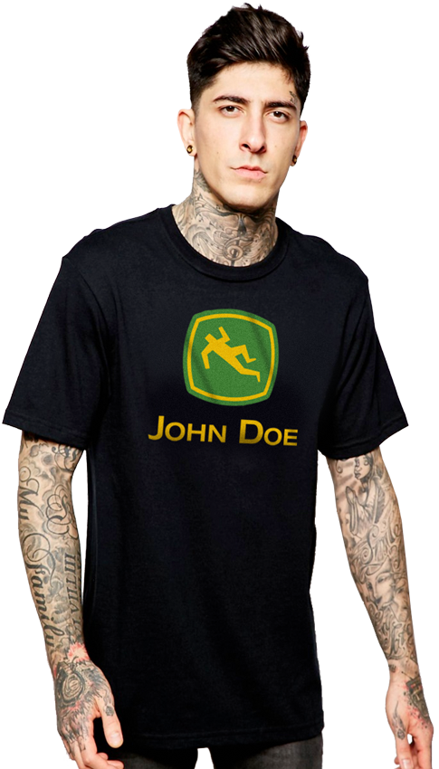 "FRESH N' CRISP™ ""JOHN DOE"" HALLOWEEN UNISEX BLACK CREWNECK"