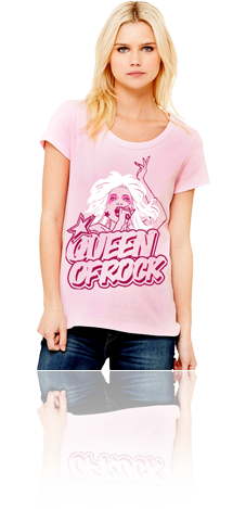 "FRESH N' CRISP™ ""QUEEN OF ROCK"" WOMENS CREWNECK"