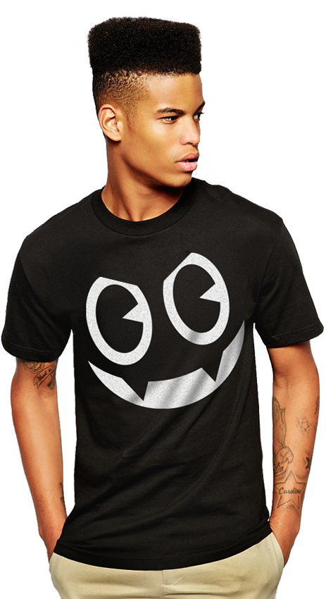 "FRESH N' CRISP™ ""NAUGHTY OR NICE - SMILEY"" SS CREWNECK T-SHIRTS"