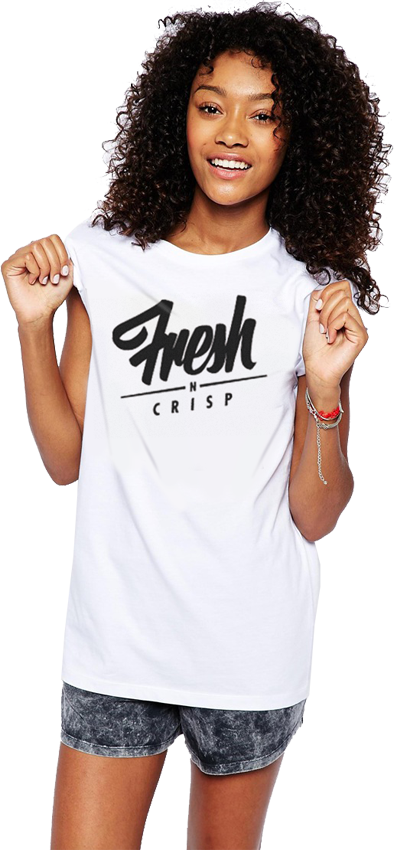"FRESH N' CRISP™ ""ORIGINAL FLAVOR - TASTY"" SS LADIES CREWNECK"
