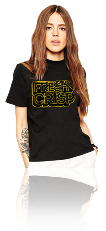 "FRESH N' CRISP™ ""THE FRESH AWAKENS"" BLACK UNISEX CREWNECK"