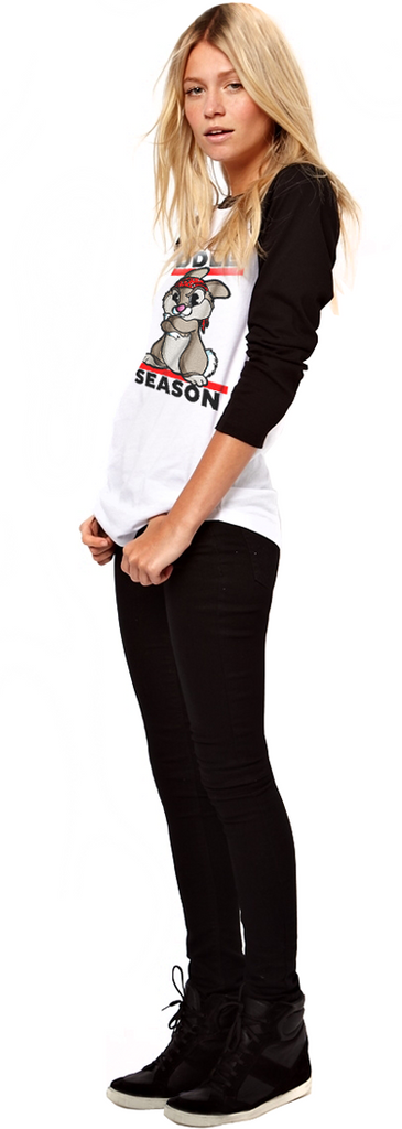 "FRESH N' CRISP™ ""CUDDLE SEASON"" UNISEX B&W 3/4 SLEEVE RAGLAN"