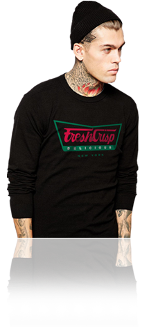 "FRESH N' CRISP™ ""DELICIOUS"" UNISEX BLACK SWEATSHIRT"