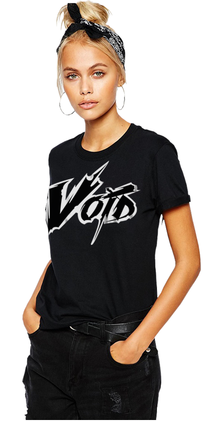 "FRESH N' CRISP™ ""THE VOID"" UNISEX BLACK CREWNECK"