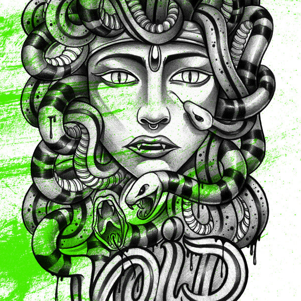 "FRESH N' CRISP™ ""MEDUSA"" WOMEN'S ALL-OVER PRINT T-SHIRT"