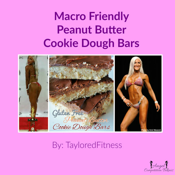 Macro Friendly Peanut Butter Cookie Dough Bars