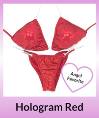 Angel Competition Bikinis Hologram Red