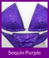 16 sequin purple competition suit