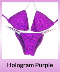 Angel Competition Bikinis Hologram Purple