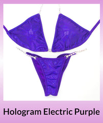 Angel Competition Bikinis Hologram Electric Purple