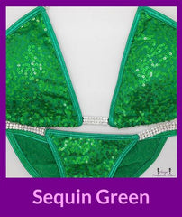 18 sequin green competition suit