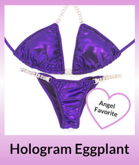 Angel Competition Bikinis Hologram Eggplant