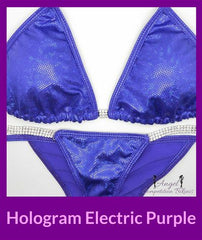 21 hologram electric purple micro cheeky womens bikini