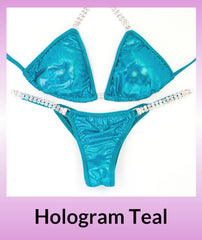 Angel Competition Bikinis Hologram Teal