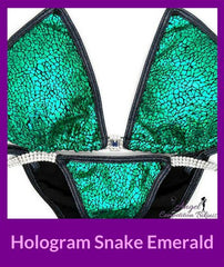 28 hologram snake green micro cheeky competition suit