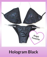 Angel Competition Bikinis Hologram Black