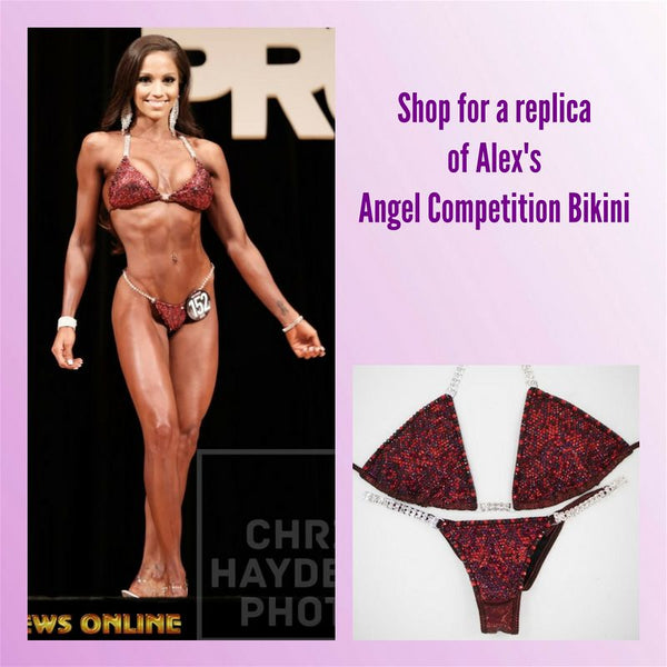 Angel Competition Bikinis Sponsored Athlete Alexandra Sanchez Hologram Vampire Angel Pro Multi Color