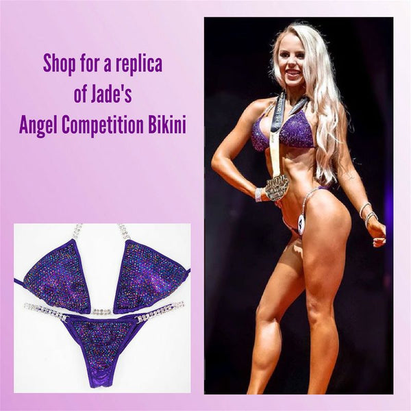 Angel Competition Bikinis Jade Joselyn Diamond Pro Hologram Eggplant Chrome Purple AB