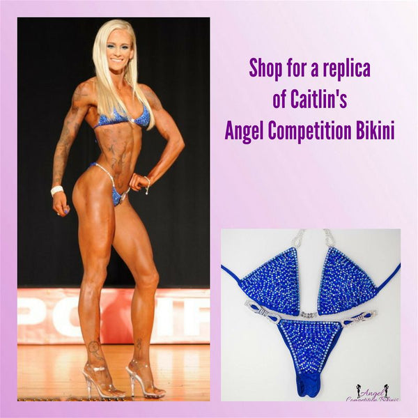 Angel Competition Bikinis Sponsored Athlete Caitlin Foresman Venus Hologram Electric Blue