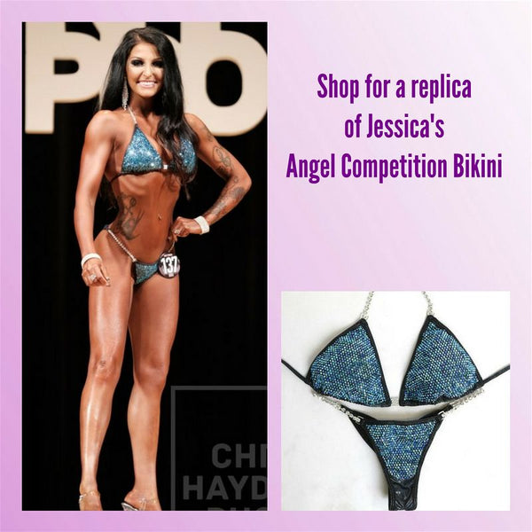 Angel Competition Bikinis Sponsored Athlete Jessica Dolias Hologram Black Under the Sea