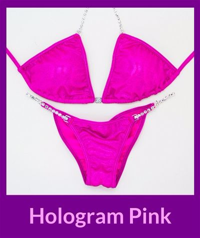 Hologram Pink Angel Competition Bikinis