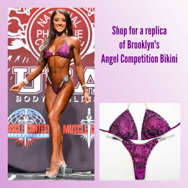 Angel Competition Bikinis Sponsored Athlete Brooklyn Hillenbrand Angel Pro Multi Color