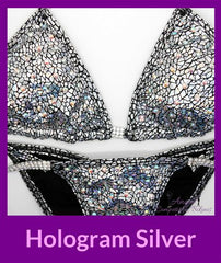 2 hologram siliver fitness suit