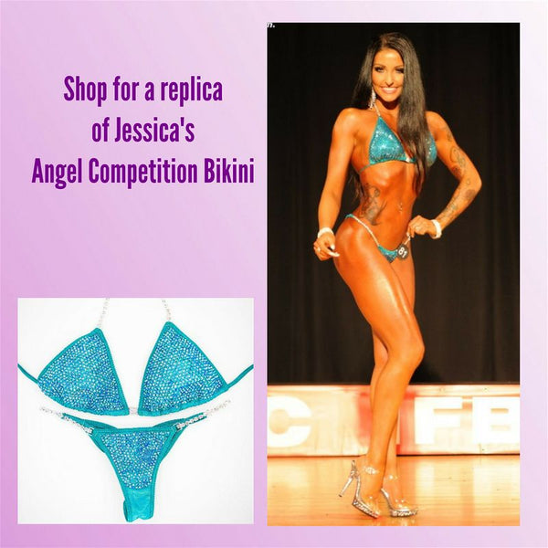 ACB Sponsored Athlete Jessica Dolias Hologram Teal Emerald AB Sapphire AB
