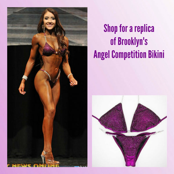 Angel Competition Bikinis Sponsored Athlete Brooklyn Hillenbrand Amethyst Jewel Tone