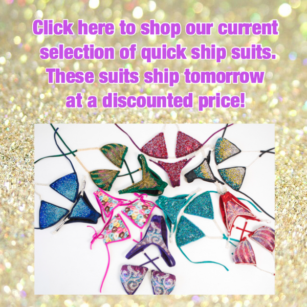 Angel Competition Bikinis Ships Tomorrow Suits