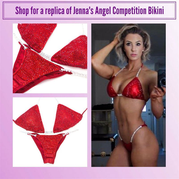 Jenna Fail Angel Competition Bikinis Breast Cancer Awareness