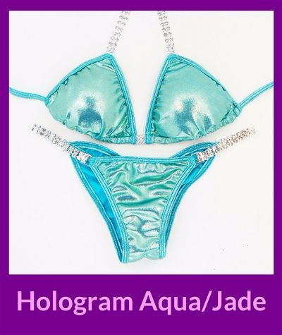 Hologram Aqua/Jade Angel Competition Bikinis