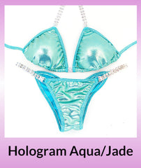 Angel Competition Bikinis Hologram Aqua/Jade