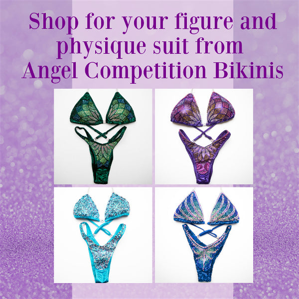physique competition figure show angel competition bikinis suits crystals crystallized pro brazilian