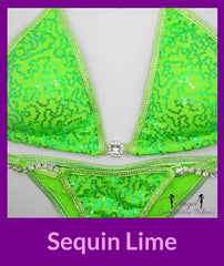 9 sequin lime sequin micro cheeky bikini
