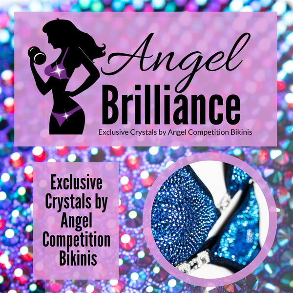 Angel Brilliance Crystals Crystal End Action grande Angel Brilliance x2122 Exclusive Crystals by Angel Competition Bikinis
