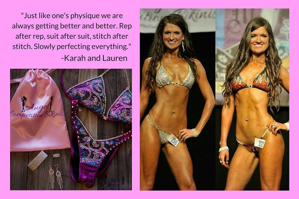Angel Competition Bikinis, Karah Beeves, Lauren Beeves, best competition bikini company
